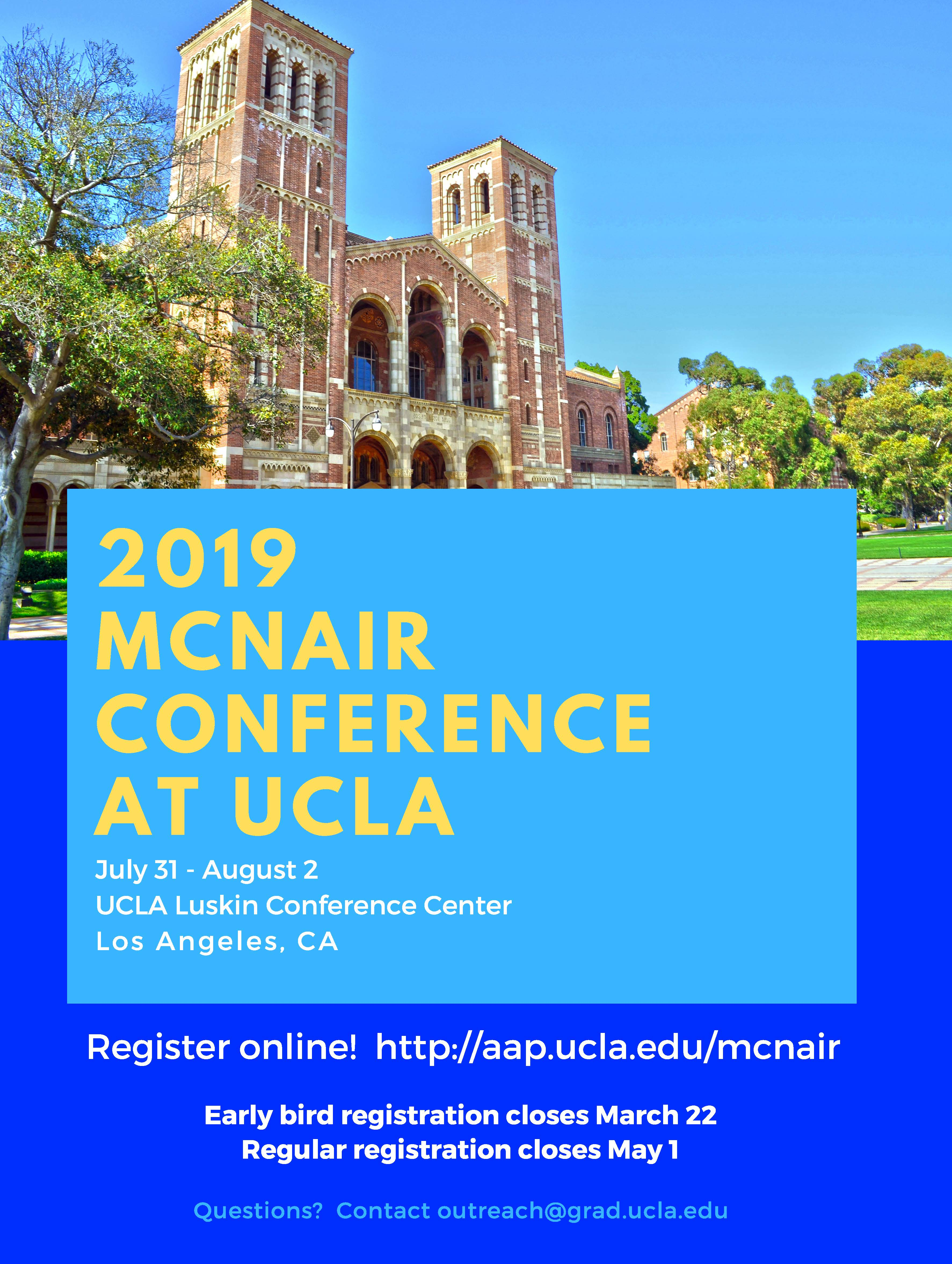 2019 UCLA McNair Conference
